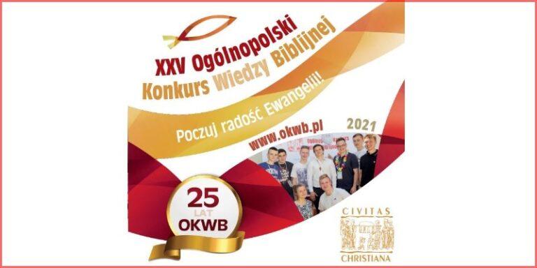 XXV edycja Ogólnopolskiego Konkursu Wiedzy Biblijnej